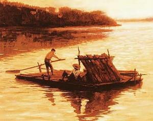 Huck Finn's raft