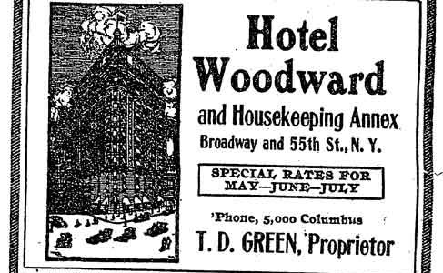 Itinerant Days at NYC's Hotel Woodward